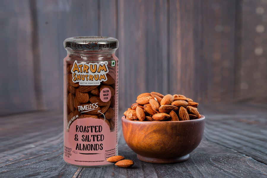 "A Glass Product Package Design for A Snack Brand ""AtrumShutrum"""