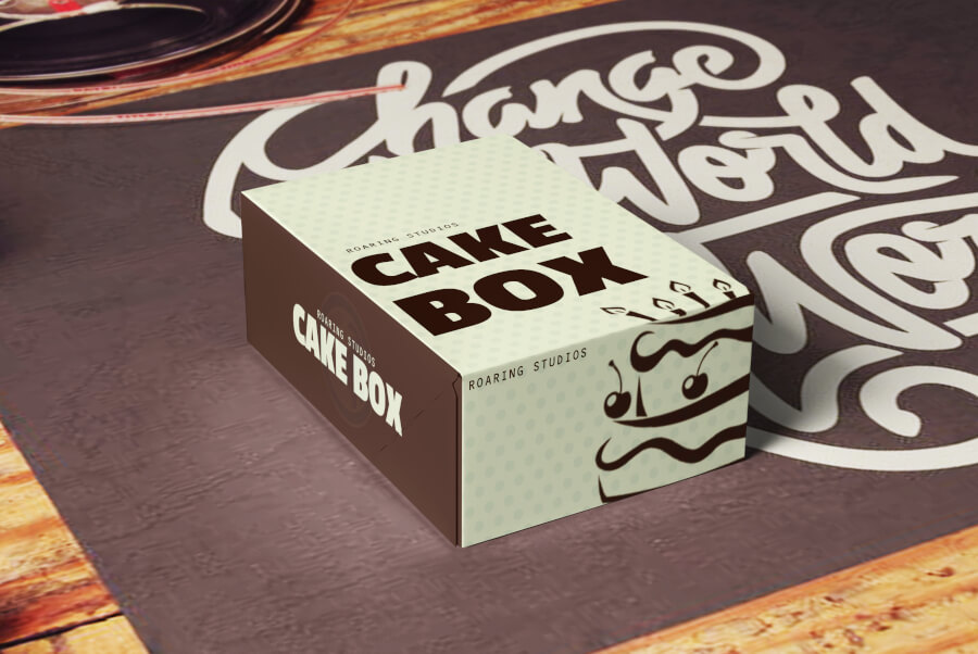 A Cake Box Design for Product Package